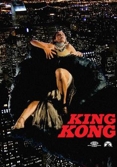 Guilty pleasure. Sexy Jessica Lange, lush score by John Barry, bloody climax atop the World Trade Center Twin Towers ( metaphors abound ).  Dino De Laurentiis' production of 'King Kong,' Directed by John Guillermin