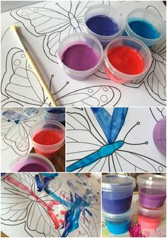 Stop Spending a Fortune on Paint for Kids | Two Ingredient Shiny Kids Paint ~ Frugal Edmonton Mama