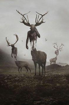 Arte Horror, Horror Art, Creepy Art, Scary, Le Wendigo, Dark Fantasy, Fantasy Art, Arte Obscura, Illustration