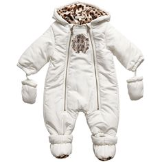Lovely, warmer and gentle with the use of baby snowsuit makes simpler using your kid directly into the freezing. Baby In Snow, Baby Winter, Baby Girl Jackets, Baby Snowsuit, Baby Girl Princess, Princess Nursery, Baby Leopard, Snow Outfit, Designer Baby Clothes