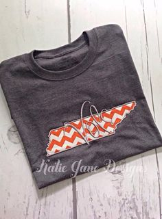 TN State Outline Vols short sleeve t-shirt by KatieJaneSews