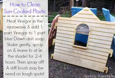 Learn how to paint plastic! Plus a awesome plastic-cleaning-recipe for a fun upcycle project on day2daySuperMom.com