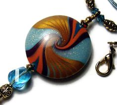 Pendant Necklace Polymer Clay Handmade by SweetchildJewelry, $22.00
