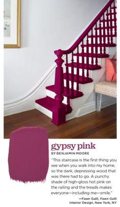 Excite and inspire with colours like Gypsy Pink by Benjamin Moore!