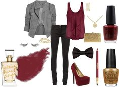 """Gold & Crimson Beauty"" by me2carly on Polyvore"