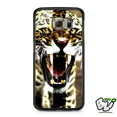 Angry Leopard Cross Samsung Galaxy S7 Edge Case