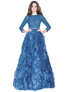 POSEY RUFFLE BALL GOWN SKIRT by Alice + Olivia