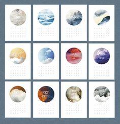Wandkalender - Kalender 2015 zum Ausdrucken – PDF - ein Designerstück von Matrjoschki bei DaWanda