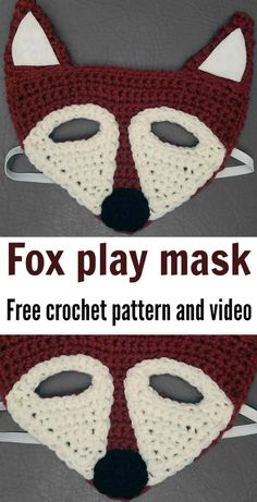 My kids LOVE these fox crochet masks. Anyone can do it, free crochet pattern and a video to show you how