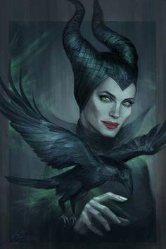 Pop Culture Art - Maleficent By jasric Maleficent Art, Angelina Jolie Maleficent, Sleeping Beauty Maleficent, Malificent, Dark Disney, Disney Magic, Disney Villains, Disney Movies, Imagenes Dark
