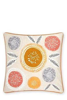 Buy Embroidered Retro Geo Floral Cushion from the Next UK online shop