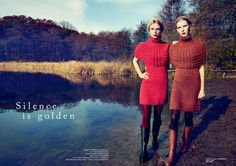 Gritty Glamor-Girl Shoots - The Lea Nielsen Spring 2012 JNC Editorial Captures Alluring Autumn Style (GALLERY)