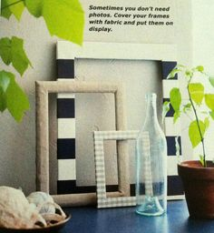 An easy #diy home #decor project - great for recycling old or thrift store picture frames