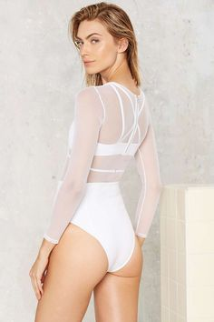 Flook the Label Harper Mesh Swimsuit   Shop Clothes at Nasty Gal!