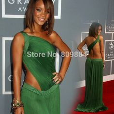 Green Dress Rihanna Promotion-Shop for Promotional Green Dress ...