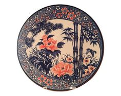 SHOP HOME DECOR NOW! Vintage Hand Painted Japanese Charger Decorative Plate | Estate Sale Item by Heathertique