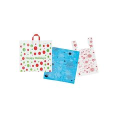 Our plastic bags with loop handles offer strength and durability with a wonderful design choice. This shiny plastic bag is also recyclable. Use Of Plastic, Plastic Bags, Christmas Bags, Printed Bags, Shopping Bag, Recycling, Strength, Handle, Prints