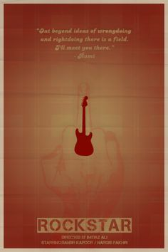 Rockstar by Abhinav Bhatt Iconic Movie Posters, Minimal Movie Posters, Minimal Poster, Movie Poster Art, Iconic Movies, Film Posters, Guess The Movie, Be With You Movie, Bollywood Posters