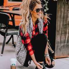 Ideas for the winter outfit. via … - Winter Outfits Winter Outfits For Teen Girls, Cute Fall Outfits, Fall Winter Outfits, Autumn Winter Fashion, Cool Outfits, Casual Outfits, Winter Flannel Outfits, Winter Weekend Outfit, Winter Work Clothes