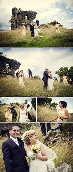I love these wedding photos in Ireland. I need to start getting ideas to show our photographer