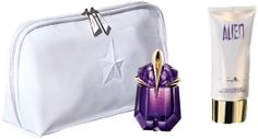 Thierry Mugler Alien 30ML EDP-S Refillable, 100ML Body Lotion, 100ML Shower Gel, and Pouch
