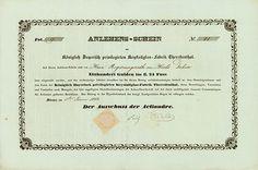Königlich Bayerisch privilegirte Krystallglas-Fabrik #Theresienthal #München, 01.01.1842, Anlehens-Schein über 100 Gulden im 24 Gulden Fuss, #41, 30 x 44,8 cm, schwarz, grau, DB, KR, Knickfalte längs, sonst EF, papiergedecktes Siegel, absolute Rarität aus einer uralten Sammlung! Die Gesellschaft war die erste #Aktiengesellschaft Niederbayerns!