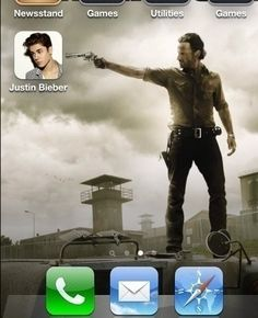 TV series The Walking Dead Rick Grimes lol Justin Bieber humor funny pictures funny pics celebs Memes Humor, Funny Memes, Jokes, Twd Memes, Funny Quotes, Funny Shit, The Funny, Funny Stuff, Funny Things