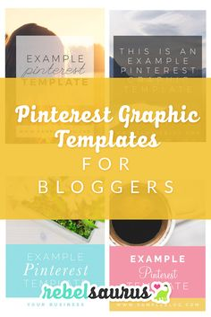 These are Pinterest graphic templates that I've designed that you can use to promote your blog posts on Pinterest and social media. You can customize them with your own text, photos, colors, or fonts in Photoshop. :)