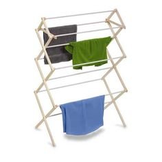 Boasting an accordion-style body, the Honey-Can-Do Wooden Knockdown Drying Rack brings natural beauty and functionality to your home. The drying rack offers up to 29 feet of drying space and its coated rods help prevent snagging and slipping. Indoor Clothes Drying Rack, Drying Rack Laundry, Laundry Storage, Storage Organization, Laundry Room, Easy Storage, Natural Clothing, Room Accessories, Wood Construction
