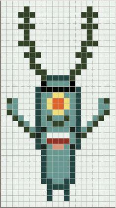 Luvs 2 Knit: SpongeBob perler bead pattern