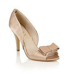 Ravel - Champagne 'Shiloh' stiletto heeled peep-toe shoes