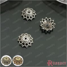 (26929)100PCS 12MM Antique Silver Plated Zinc Alloy Bead Caps Diy Handmade Jewelry Findings Jewelry Accessories Wholesale