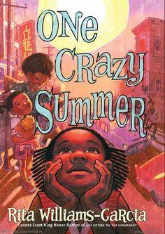"The 2011 Coretta Scott King Author Award winner was Rita Williams-Garcia, author of ""One Crazy Summer. Summer Books, Summer Reading Lists, Reading Tips, Reading Lessons, Reading Workshop, Reading Books, Girls Bookshelf, Coretta Scott King, National Book Award"