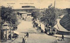 București - Hala Mare (Unirii) si Dâmbovița - 1910
