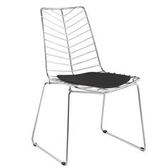 """- Chair Features Chrome Base - Leatherette Seat Pad Included - Assembly required: Yes - Dimensions: 31.5""""H x 21""""W x 24""""D"""