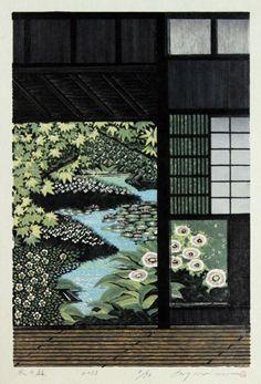 MORIMURA Ray - Water Garden, woodblocks 2013