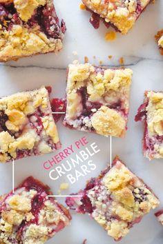 Cherry Pie Crumble Bars FoodBlogs.com