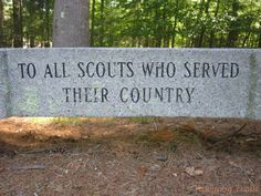 The COPE bench at the #Yawgoog's Challenge Center honors Scouts who have served their country. A 2013 image by David R. Brierley.  #VeteransDay