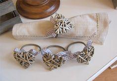Willow Heart Napkin Rings