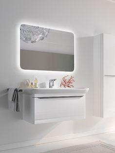Salle de bains xeno meubles point d 39 eau composables 60 cm allia innove pour vous depuis - Allia salle de bain ...