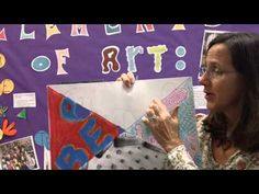 """Middle School art teacher demonstrates how she uses """"stations"""" with her class to explore the elements of art."""