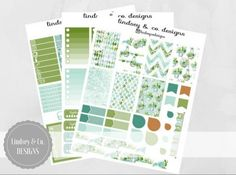 Here is the Succulent and Sweet kit! These printable planner stickers are designed for the BIG MAMBI Happy Planner (letter size). There are 108 stickers included! #plannerstickers #happyplanner #plannerprintables #planneraddict