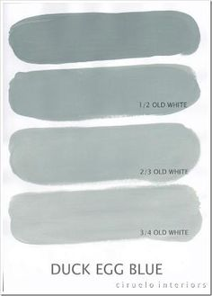 Mixing Annie Sloan Chalk Paint.  ALL colors are here. Duck Egg Blue og Old White by lois