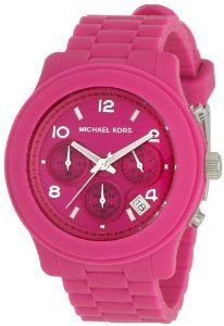 MICHAEL KORS WOMAN'S MK5295 SPORT CHRONOGRAPH HOT PINK WATCH.