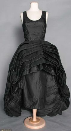 """Roberto Capucci """"nove Gonne"""" Gown, 1956. For upcoming vintage fashion and textile sale."""