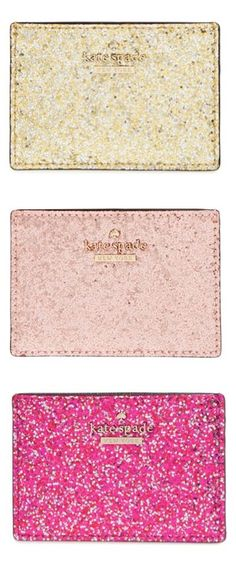 Glitter pouches by kate spade new york? Yes, please!