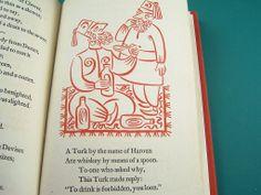 The World's Best Limericks, Illustrated by Richard Floethe, 1951 #limericks