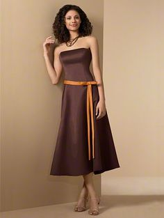 My bridesmaid will look like reese's peanut butter cups with this dress!!! haha!!  still cute though I think!