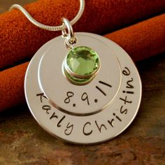 Hand Stamped Mommy Necklace Personalized by IntentionallyMe, $52.00  Attention Bulock Family your mama wants this!!