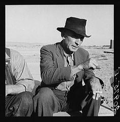 Former Nebraska Farmer, now a migrant farm worker. Klamath County, Oregon. See general caption 62-111